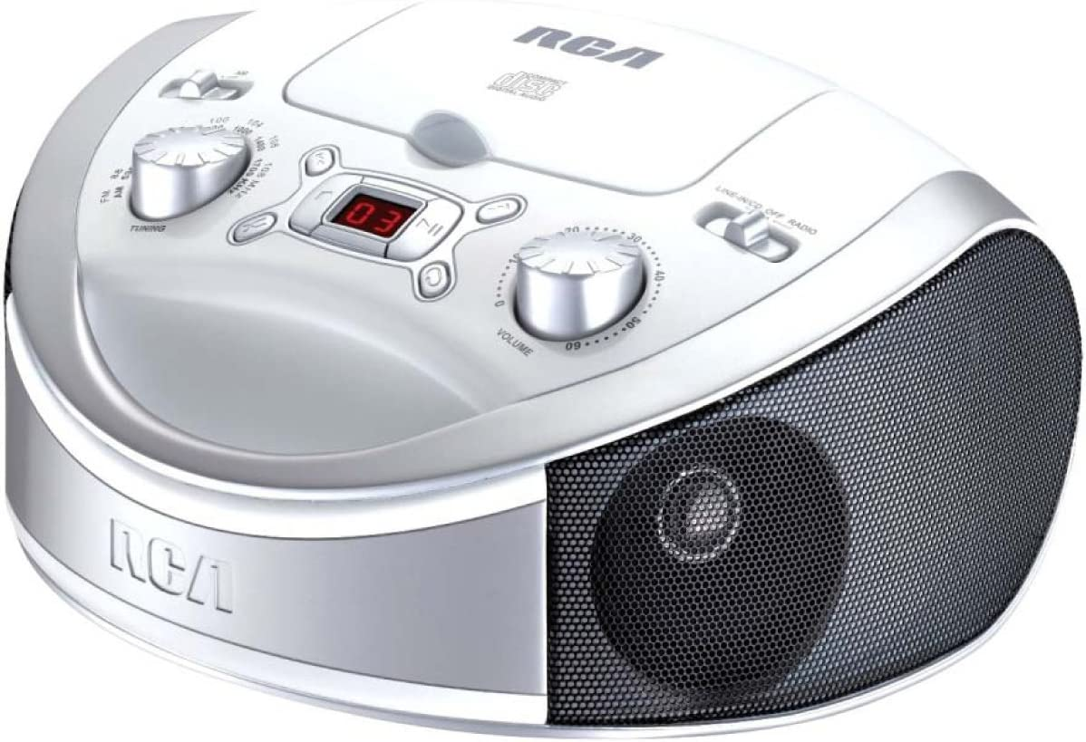 RCA RCD331WH Elegant Portable CD Player with AM Radio All items in the store - FM White