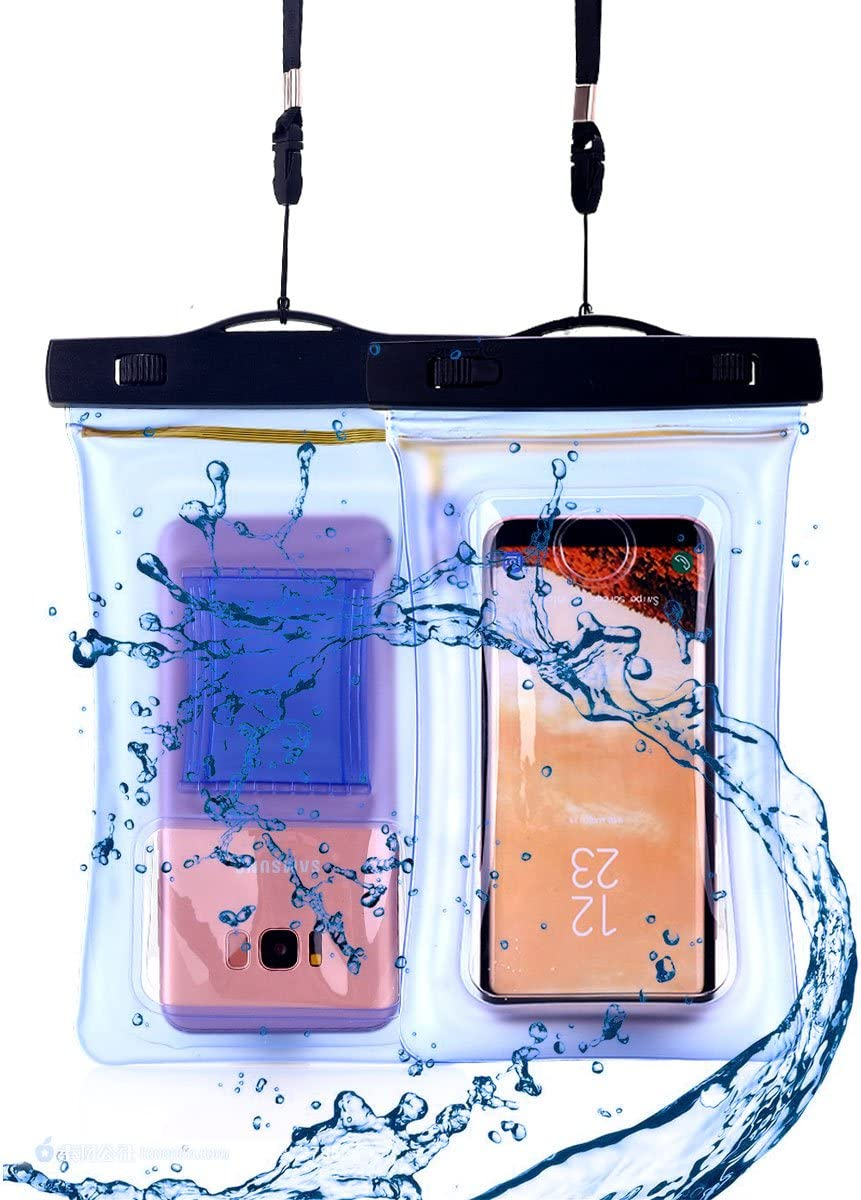 AICase 2 Pack Waterproof Phone Bag, Universal Cellphone Dry case Pouch with Float Function for Apple iPhone 7,7 Plus, Samsung Galaxy S7, S8 Plus, HTC LG Sony Nokia Motorola up to 6.6