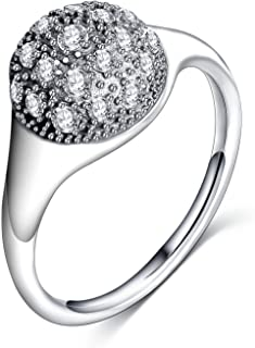 Slyq Jewelry Dazzling Droplet Women sterling silver engagement ring fashion ring for men