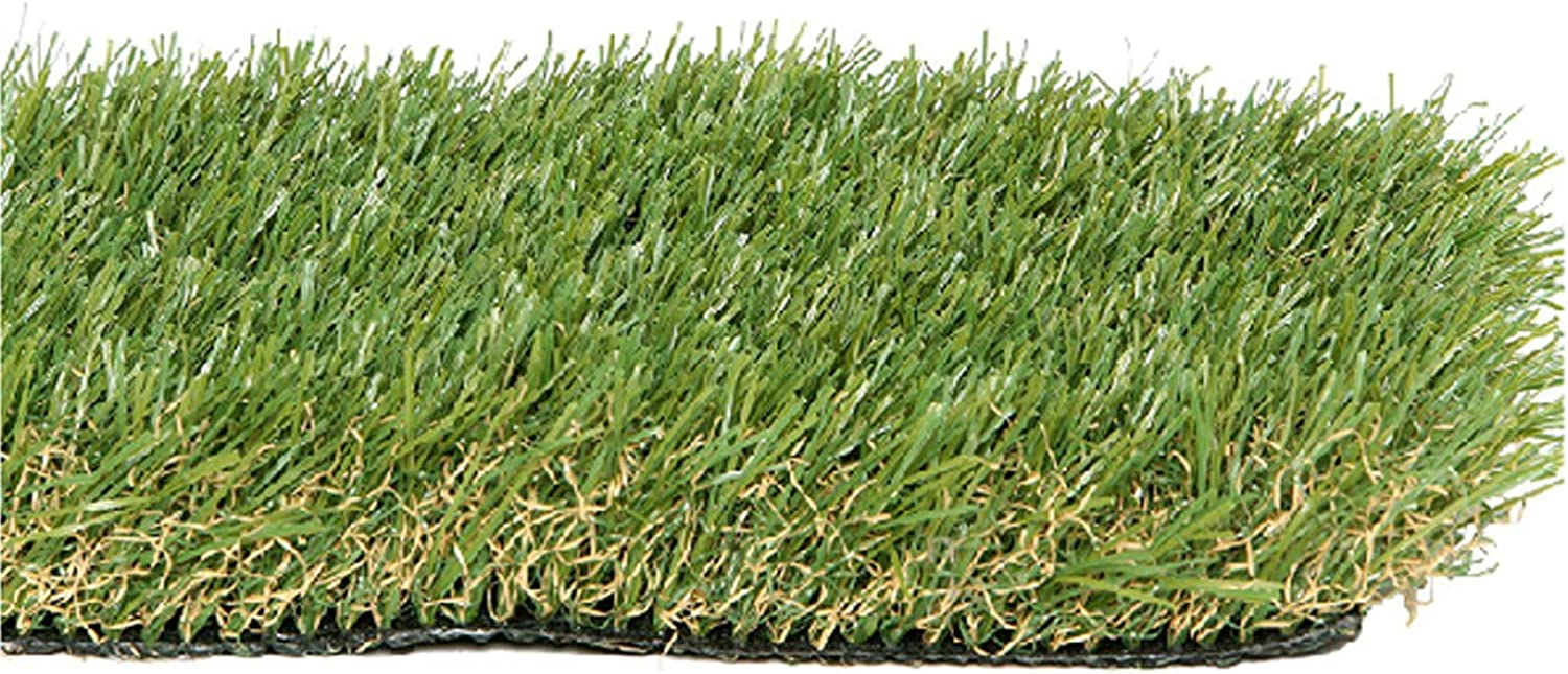 PZG Premium Artificial Grass Patch w  Drainage Holes & Rubber Backing   4Tone Realistic Synthetic Grass Mat   1.6inch Blade Height  ExtraHeavy & Soft Pet Turf   LeadFree Fake Grass for Dogs or Outdoor Decor   Size  5' x 3.3'