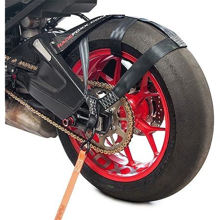 Racefoxx Hinterrad Abspanngurt Zurrgurt Spanngurt Transportsicherung Gurt Für Hinterrad Hinterreifen Motorrad Schwarz Auto