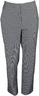 Plus Size Jacquard Slim-Leg Pants