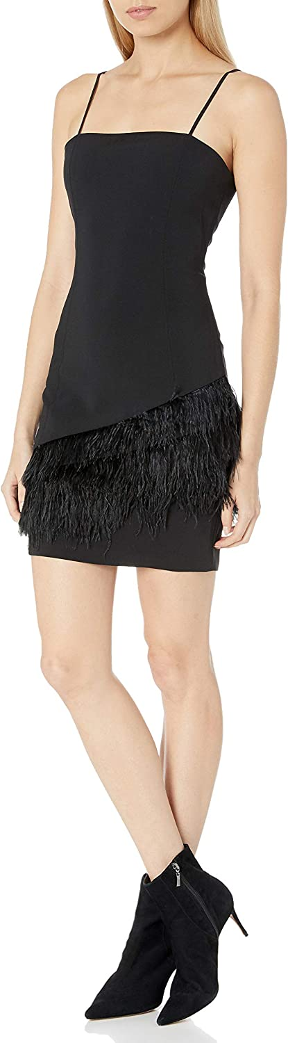 Parker Women's Connie Sleeveless Feather Max 83% Rare OFF Dress Trimmed Cocktail