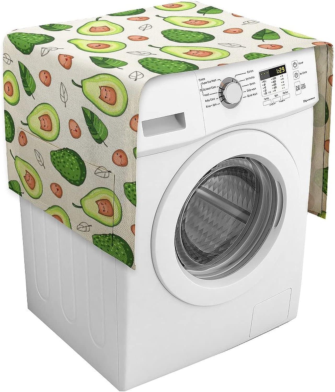 NAHOMER Refrigerator Fridge Cover Frutas Avocado Cotton Fruit SALENEW very Max 68% OFF popular Li