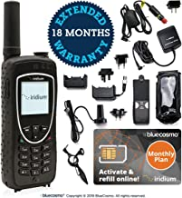 BlueCosmo Iridium Extreme Satellite Phone & Monthly Service Plan SIM Card - Voice, SMS Text Messaging, GPS Tracking, Emergency SOS - Online Activation - 24/7