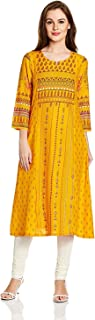 Indian Handicrfats Export Rangriti Women's A-Line Kurta
