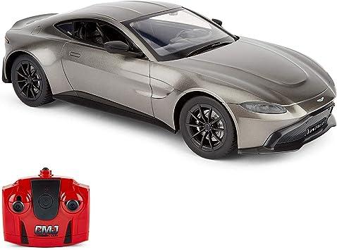 Cmj Rc Cars Aston Martin Vantage Offiziell Lizenziertes Ferngesteuertes Auto Maßstab 1 14 Grau Kindergeschenk Radio Ferngesteuerter Auto Amazon De Spielzeug