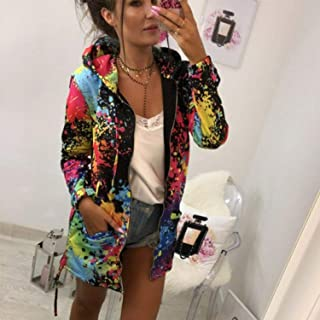 New *Rainbow* Colorful Spring Summer Pink Party Art Sweatshirt Sweater Pullover