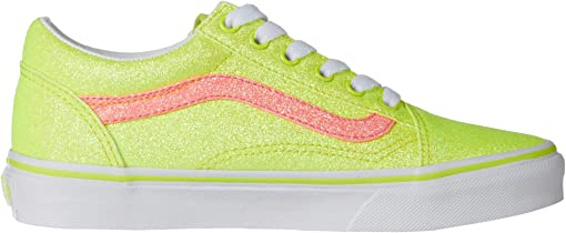 (Neon Glitter) Yellow/True White