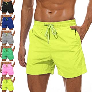 9731a61583 YnimioAOX Men's Swim Trunks Quick Dry Swim Shorts with Mesh Lining  Waterproof SwimmingTrunks for Men