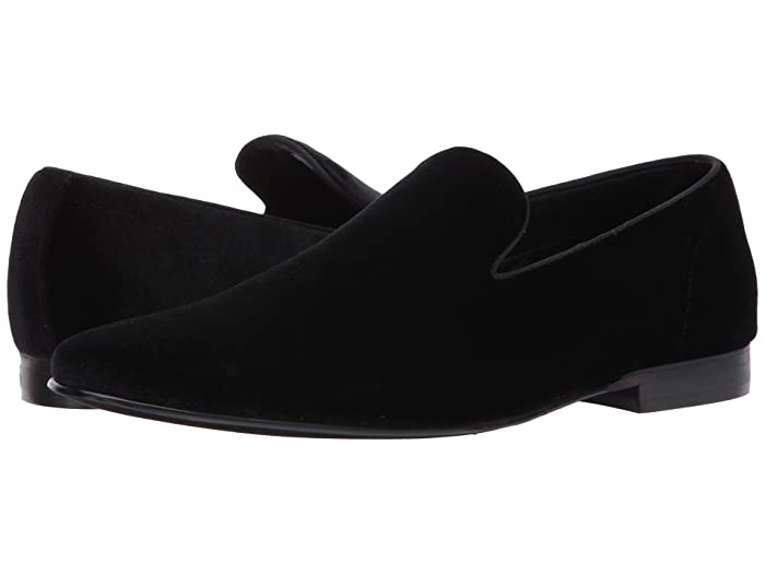 Men's 1950s Shoes Styles- Classics to Saddles to Rockabilly Steve Madden Laight Black Velvet Mens Shoes $99.95 AT vintagedancer.com