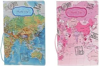 KESOTO Universal Blue+Pink Passport Cover Travel Accessories 100 X 140mm