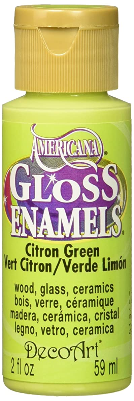 DecoArt Americana Gloss Enamel Paint, 2-Ounce, Citron Green (DAG235-30)