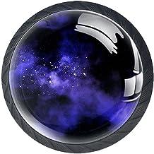 AITAI Set van 4 deurknop decoratieve handgreep ruimte Galaxy elegante toevoeging voor kast lade dressoir slaapkamer