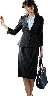 RUIRUE BOUTIQUE(ルイ?ルエ?ブティック) キャリア セットアップ スーツ (SU616) レディース スカートスーツ ビジネススーツ 通勤 オフィス ビジネス セレモニー フォーマル 入園式 入学式 卒園式 卒業式 洗濯可能 消臭 大きいサイズ