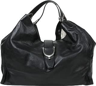 Stirrup Black Calf Leather Large Hobo Bag Handbag 296855 1000