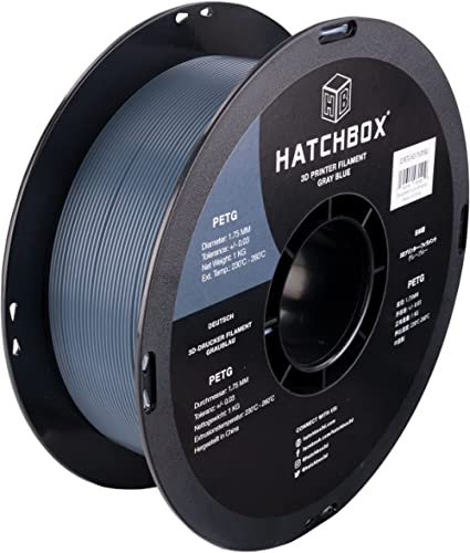 HATCHBOX PETG 3D Printer Filament, Dimensional Accuracy +/- 0.03 mm, 1 kg Spool, 1.75 mm