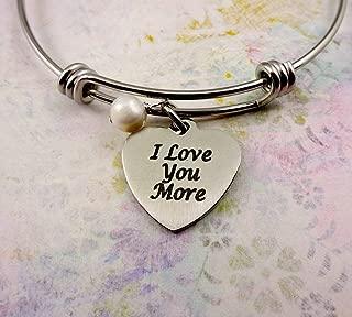 I Love You More Heart Bangle Bracelet