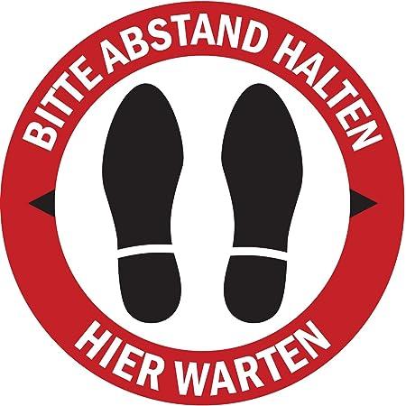 Fu/ßbodenaufkleber Richtungspfeil Aufkleber 20cm ✓ Anti-Rutsch ✓ wasserfest Eingang Gr/ün Teppich