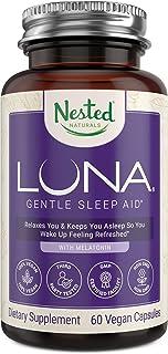 لونا | # 1 خواب کمک در آمازون | مواد لازم به طور طبیعی سوراخ شده | 60 غیر عادت در تشکیل کپسول های وگان | مکمل گیاهی با ملاتونین ، والریا ریشه ، بابونه | قرص خواب برای بزرگسالان