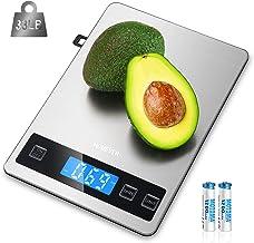 Balance de Cuisine Electronique, HOMEVER Balance Alimentaire Numérique de Précision en Acier Inoxydable, Capacité 15kg/1g,...