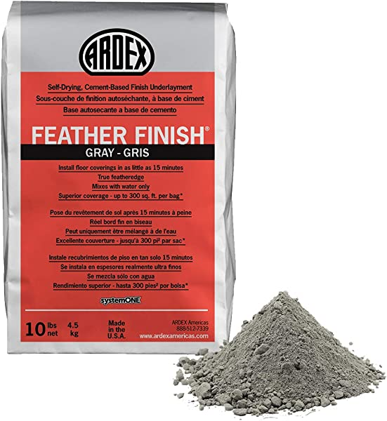 Ardex Feather Finish Grey Gray Gris Self Drying Cement Based Bag 10 Lbs