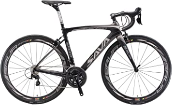 Carbon Road Bike, SAVADECK HERD9.0 700C Carbon Fiber Road Bike Cycling Bicycle with Campagnolo Centaur 22 Speed Groupset a...