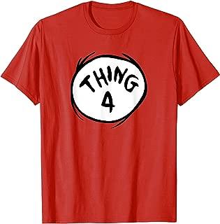 Thing 4 Emblem RED T-shirt