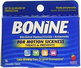 Bonine Motion Sickness Tablets, Raspberry, 16 Count