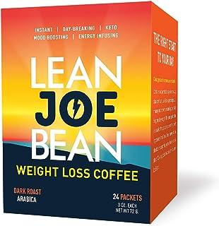 Lean Joe Bean Instant Keto Coffee | Slimming & Detox Dark Roast Arabica Blend | Metabolism Boosting & Diet-Friendly - Pale...