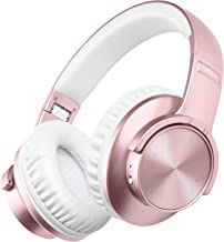 Wireless Headphones Over Ear, Picun 40 Hrs Bluetooth Headphones for Girls Women, Touch Control, Soft Protein Earpads, Hi-Fi Deep Bass Bluetooth 5.0 Headsets w/Mic, Wired Mode Travel Work - Rose Gold