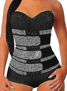 Hopgo Waist Trainer for Women Weight Loss Workout Waist Trimmer Sweat Belt Waist Cincher Girdle Shaper Slimmer