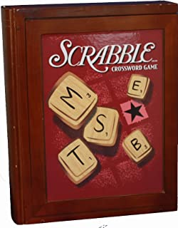 Parker Brothers Vintage BookShelf Game Collection - Scrabble Cross Word Game in Wooden Book Box