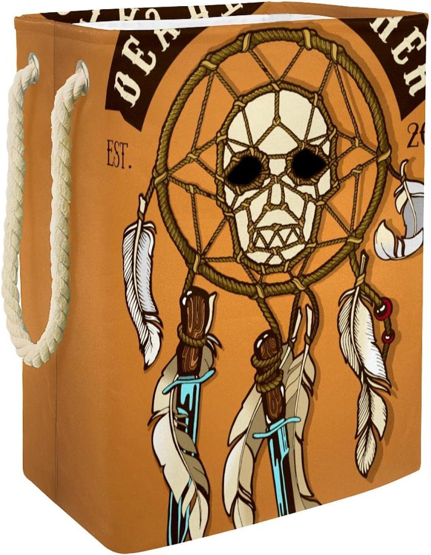 Laundry Hamper 1 year Sale special price warranty Colored Biker Skull Foldable Catcher Death Linen