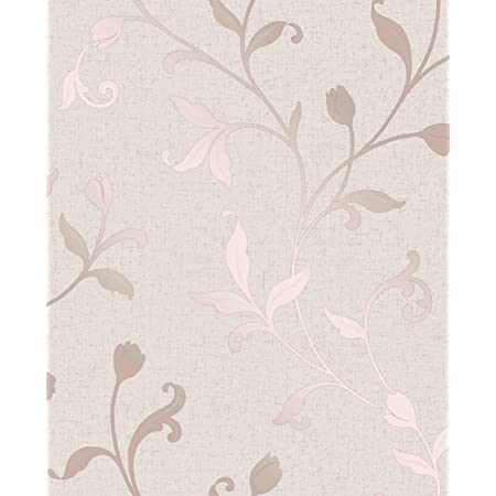 Fine Décor FD42209 Quartz Trail Wallpaper, Rose Gold