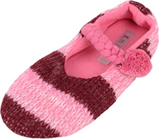 ABSOLUTE FOOTWEAR Womens Slip On Slippers/Pumps/Indoor Shoes with Warm Polar Fleece Inners