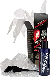 Manic Panic Blue After Midnight Amplified Hair Coloring Kit, Vegan Semi-Permanent Blue Hair Dye Cream, 3X Pigments & Lasts 30% Longer Than Classic Voltage (6-8 Weeks), PPD & Ammonia-free, Ready to Use