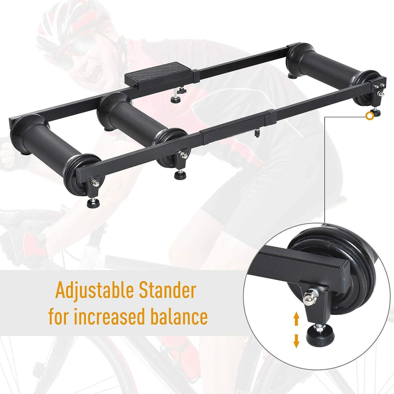Rollentrainer Fahrradtrainer MTB Riding Platform Heimtrainer Verstellbar 150kg rot