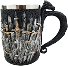Ebros Gift Medieval Renaissance Dragon Iron Throne Of Swords Coffee Mug Drinking Beer Stein Tankard Cup Fantasy Dungeons And Dragons Drogon Elixir Of Life Valyrian Steel Blades