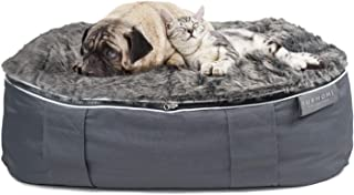 Luxury Dog Beds for Medium Dogs - Indoor Outdoor Washable Dog Bed With 2 Removable Covers for Summer and Winter | Calming Pet Bed with Faux Fur, Cooling Mat and Orthopedic Shredded Memory Foam Dog Bed