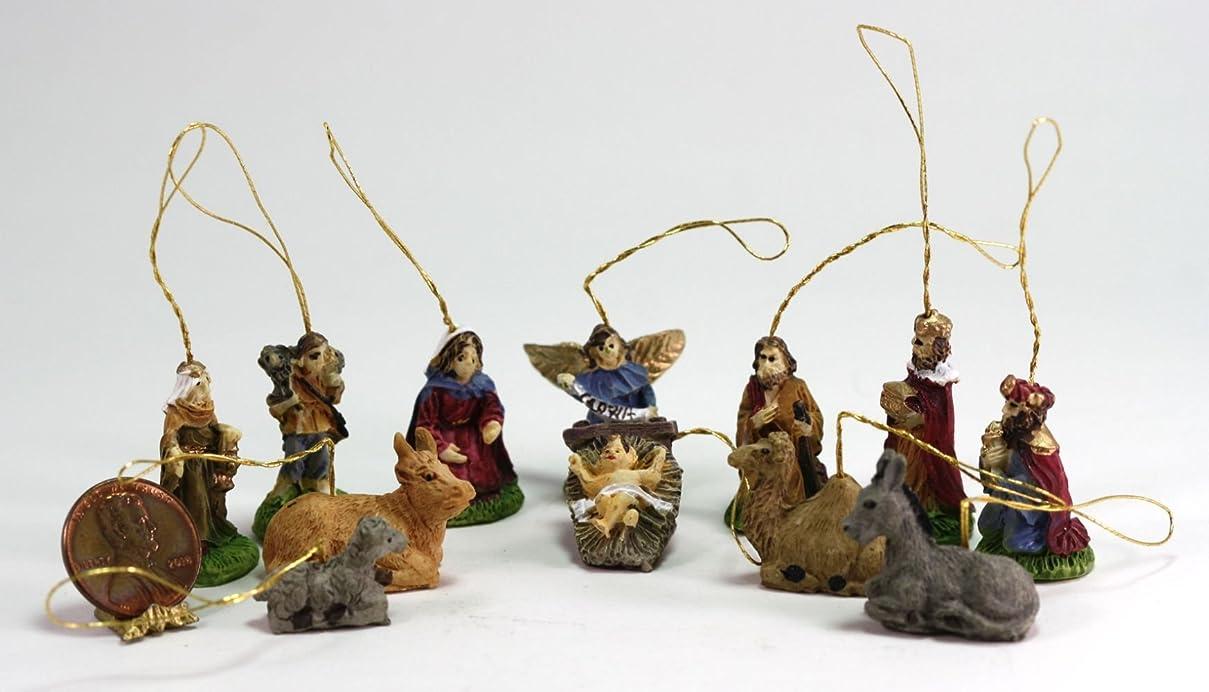 黒板ホース入口ドールハウスミニチュア12?Piece Nativity Set Ornaments