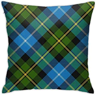 Scots Style Clan Macneil Tartan Plaid 18x18 Bedroom Theme Living Room Dorm Covers Cases Couch Outdoor Indoor Sofa Set Square Throw Pillow Decorative Party Farmhouse Bed Home Decorations Ornament