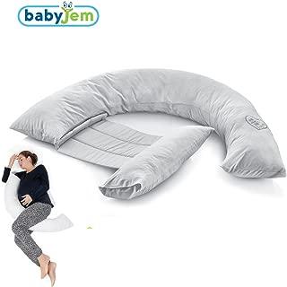 BabyJem 8699208311982 Sırt Destekli Hamile Ve Emzirme Yastık, Gri
