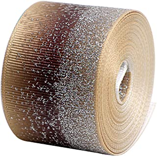 Glitter Fabric Grosgrain Ribbon 1-1/2