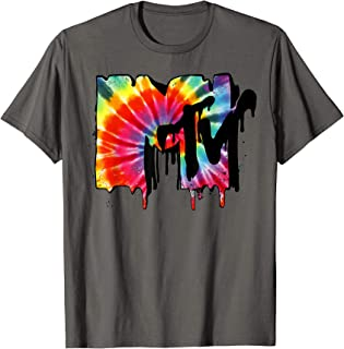 Tie Dye Vibrant Melting Logo Graphic T-Shirt
