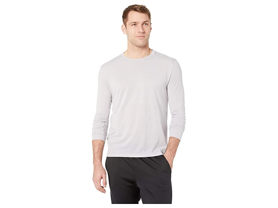 e6354f4d Nike Breathe Rise 365 Long Sleeve (Atmosphere Grey/Heather/Reflective  Silver) Men's Clothing