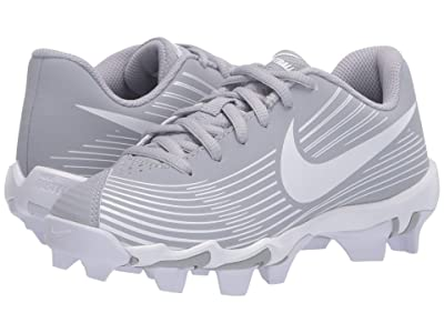Nike Kids Hyperdiamond 3 Keystone (Toddler/Little Kid/Big Kid) (Wolf Grey/White/Cool Grey) Kids Shoes
