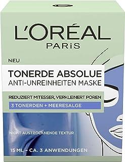 """L""""Oréal Paris Tonerde Absolue Anti-Unreinheiten Maske, 2er Pack2 x 15 ml"""