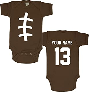 Baby Bodysuit - Football Custom Personalized with Name and Number of Your Choice