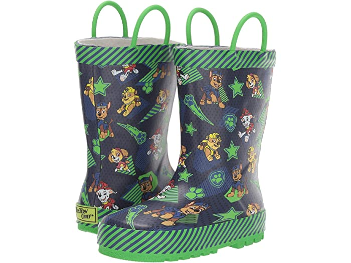Details about  /Paw Patrol Tie Top Wellies Boys Chase Wellington Snow Rain Boots Fleece Lined